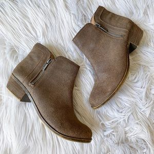 Lucky Brand Breah Genuine Leather Boho Ankle Boots